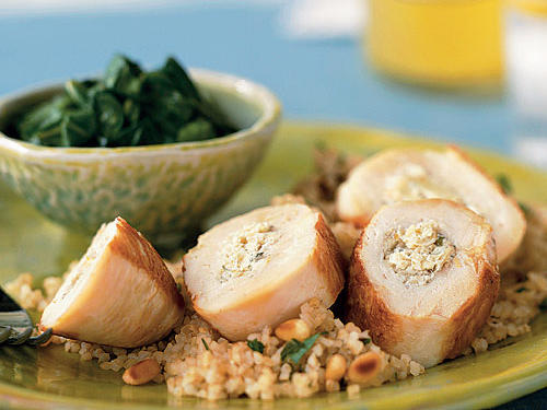 Chicken Breasts Stuffed with Artichokes, Lemon, and Goat Cheese Recipes