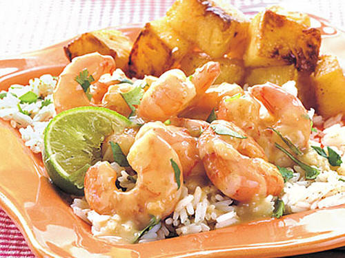 Spicy Green Curry-Cilantro Shrimp