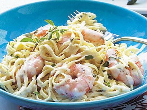 Creamy Garlic Shrimp and Pasta