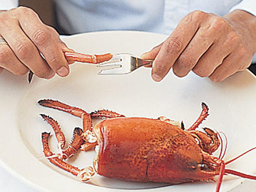 Extracting Lobster Meat: Pluck Off Legs