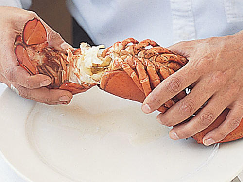 Extracting Lobster Meat: Separate the Tail