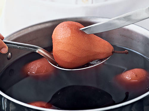 How to Make Poached Fruit: Check for Doneness