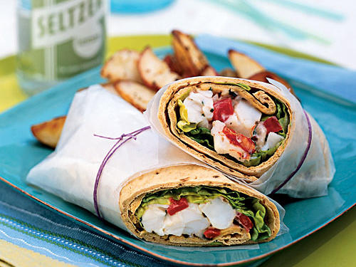 Healthy Lobster Wraps with Lemon Mayonnaise Recipes