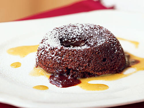 Chocolate Lava Cakes with Pistachio Cream