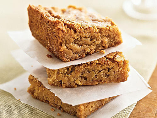 If you're not a chocolate fan, trade in brownies for a batch of these Butterscotch Blondie dessert bars. They can be stored unrefrigerated in an airtight container for up to three days.