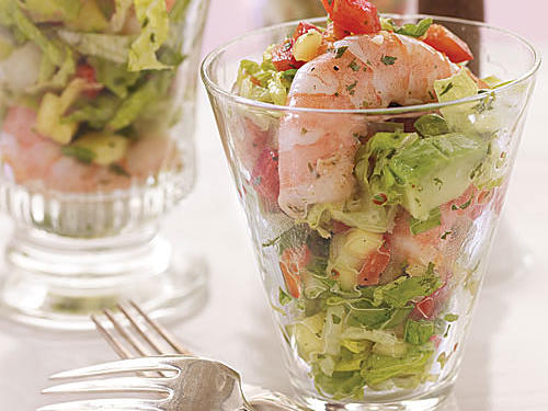 1508 Sweet and Spicy Shrimp and Avocado Salad with Mango Vinaigrette