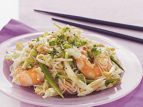 Shrimp and Noodle Salad with Asian Vinaigrette Dressing