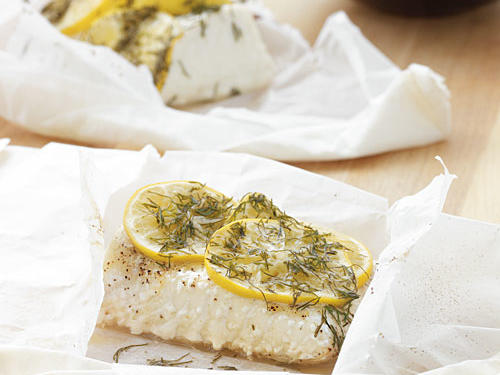 Meyer Lemon and Dill Fish Parcels