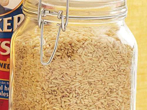 Brown rice is a nutritional rock star in the rice family, however when cooked traditionally, it requires a long cooking time because the bran is a barrier to water. Significantly reduce the cooking time by using a pressure cooker.How to: Place 1 1/4 cups water and 1 cup uncooked long-grain brown rice in the pressure cooker. Close lid securely; bring to high pressure over high heat. Adjust heat to medium or level needed to maintain high pressure; cook 17 minutes. Remove from heat; release pressure through steam vent, or place cooker under cold running water to release pressure. Remove lid.