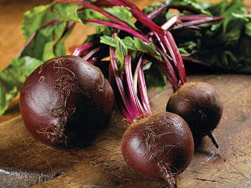 Fresh beets are now commonplace on fine-restaurant menus. With hues ranging from yellow to purple, they lend themselves to dramatic presentations.To select, choose small to medium beets with firm, smooth skin and no soft spots, with stems and leaves attached.Recipes:• Easy Pickled Beets• Beets with Dill and Walnuts• Spiced Beet and Carrot Soup• Golden Beet, Greens, and Potato Torta• Roasted Carrot and Beet Salad with Feta, Pulled Parsley, and Cumin VinaigretteSee More: In Season: Beets