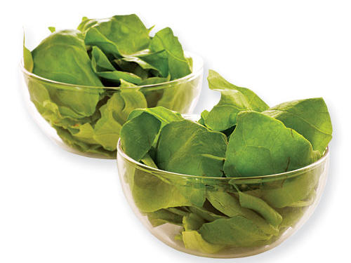 How many calories in 2 cups of raw spinach