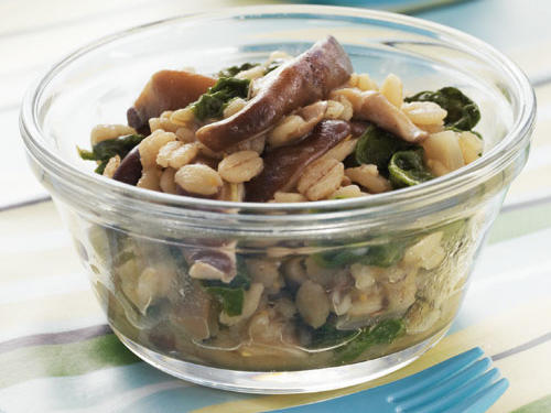 Barley with Shiitakes and Spinach Recipe