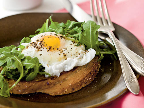 Poached Eggs with Buttery Multigrain Toast Vegetarian Egg Recipe