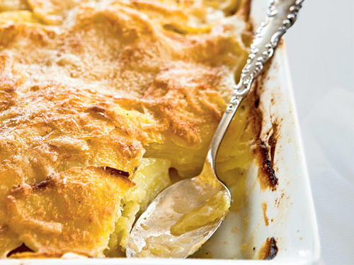 Inspired by the French classic potatoes dauphinoise, this dish is rich, gooey, and comforting.