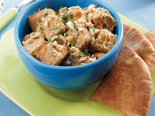 Tempeh with Curried Cashew Sauce Vegetarian Recipe