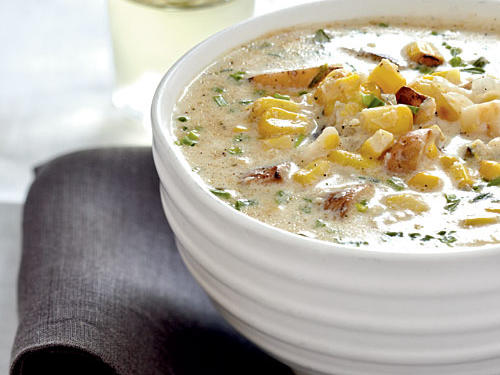 The addition of grilled fresh corn and fresh herbs to this creamy, reduced-fat chowder creates a deeper level of flavor for the soup. So good, in fact, you might not get the chance to freeze any leftovers for tomorrow.