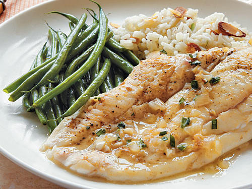 Sole with Tarragon-Butter Sauce