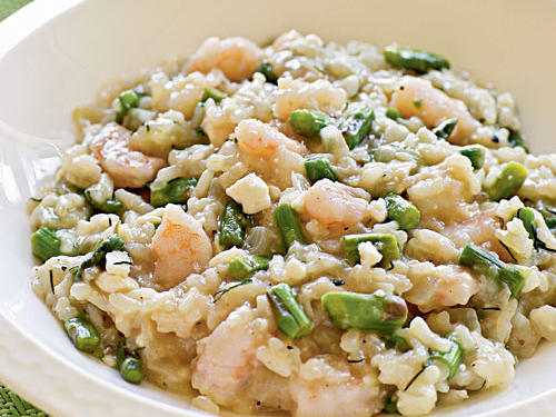 Greek Shrimp and Asparagus Risotto recipe