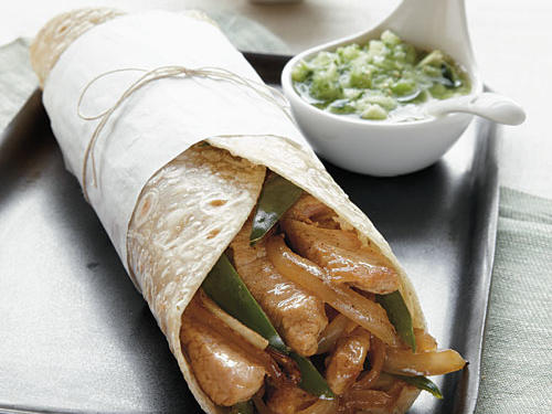 Pork Wraps with Fresh Tomatillo Salsa