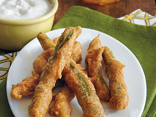 Tempura Green Beans with Mild Cayenne Sour Cream
