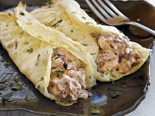Egg Crepes with Sausage