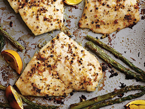 Baked Flounder with Fresh Lemon Pepper