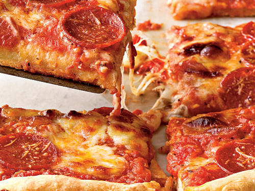 Pepperoni Deep-Dish Pizza