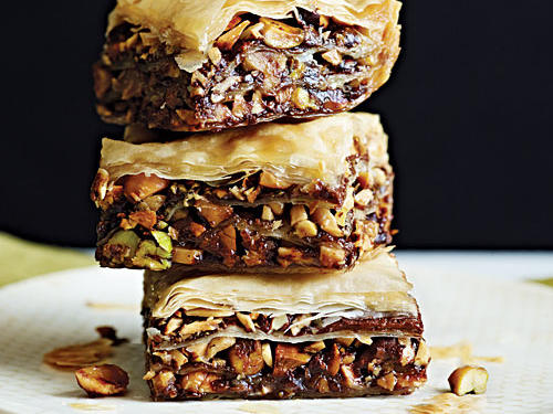 Baklava is a classic Mediterranean dessert that traditionally features layered phyllo dough, nuts, and syrup or honey. In this version, creamy chocolate-hazelnut spread adds rich, decadent flavor to this nutty, crowd-pleasing pastry.