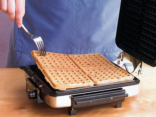 The general rule is to cook the waffle until the iron stops steaming, but cooking times can vary, so check your manufacturer's instructions. In general, each waffle will cook 5 to 6 minutes. Cook them a little bit longer if you like a crisper waffle.See More: 10 Favorite Waffle Recipes