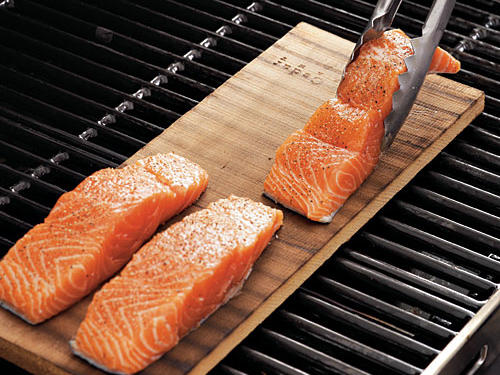Place Fish on Charred Side of the Plank