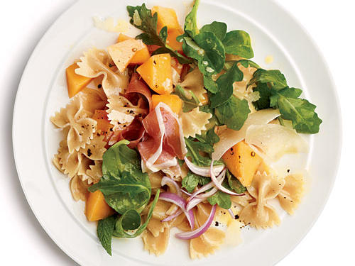 The sweet melon and smoky prosciutto intertwine in this hearty dish to delight the taste buds. It's substantial enough to be the main course or as the side dish to a lighter entrée.