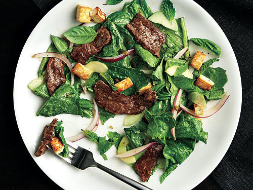 Spicy Beef and Tofu Salad