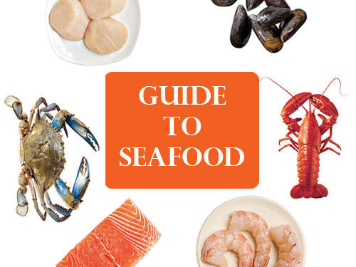 Make lunch or dinner with something from the sea: Fish and shellfish cook quickly and are perfect for quick weeknight meals or a gourmet feast. As a lean source of protein, they provide all sorts of health benefits, including heart-healthy omega-3 fatty acids. These are common types of seafood you may find in the market. Our Types of Fish Guide can help with finding many other varieties of fish. Here's a guide to finding and preparing these 6 common types of fish and shellfish.