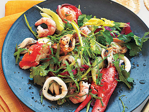Seafood is a great low-fat source of protein. Treat yourself to a cornucopia of under-the-sea flavors with this easy seafood salad.