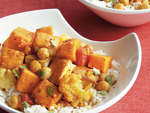 Tofu and Chickpea Curry Recipe