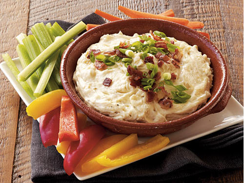 Serve this dip with assorted vegetable dippers for a great appetizer at your holiday party or your dinner spread. Spread it on a sandwich made of leftover meat the next day for a simple and delicious lunch.