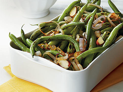 Green Beans with Toasted Almonds and Lemon