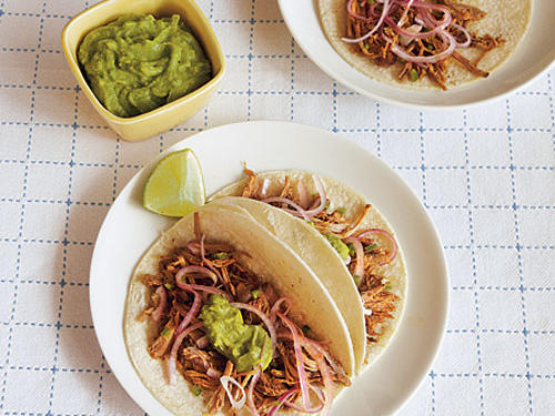 Citrus-Marinated Pork Tacos with Pickled Onions
