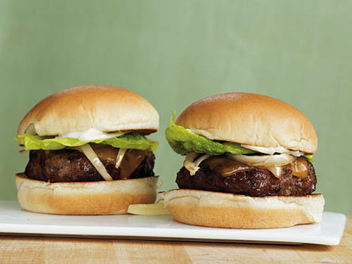 These mini burgers satiate your craving for beef without the guilt of a 1/2-pound serving. Cook the burgers in a pan or on a grill over medium-high heat. Mini hamburger buns or Parker House Rolls are perfect.