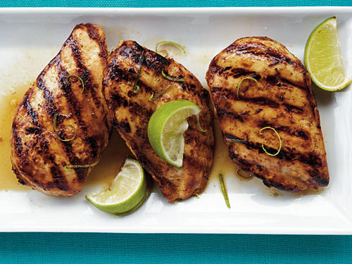 This chicken tastes great with a romaine salad and a side of corn, or sliced and turned into tacos with rice and beans.
