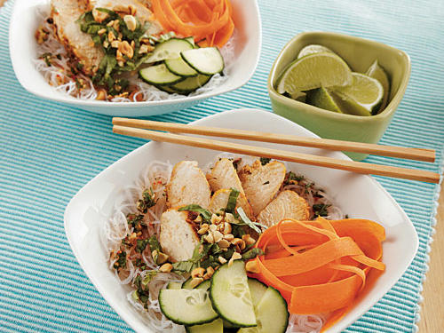 These bowls might take a little longer to make, but they are definitely worth it. Packed with Thai chicken, rice, and veggies, adults and kids will not be able to resist this delightful dish.