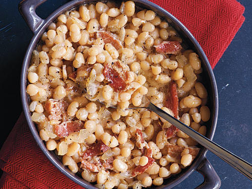 Bacon, bourbon, and maple syrup make this American classic special. Check your beans 10 to 15 minutes ahead of time to make sure they're not drying out.