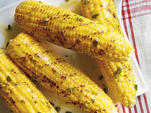 This easy, five-ingredient grilled corn gets its flavor from jalapeño peppers that are roasted, chopped, and stirred into honey butter.