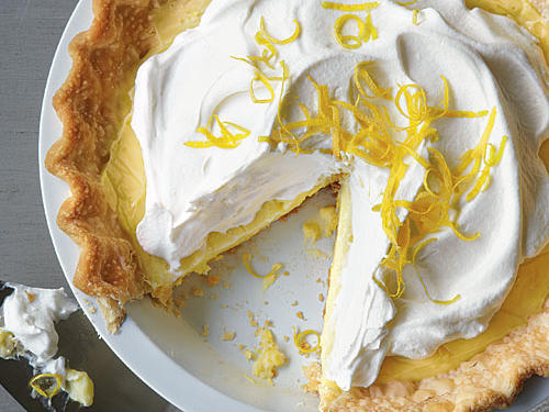 This lightened cream pie classic is sweet-tart perfection and a delicious lemon ending to any meal. You'll love the make-ahead convenience. Brush edges of crust with egg wash for nice browning.