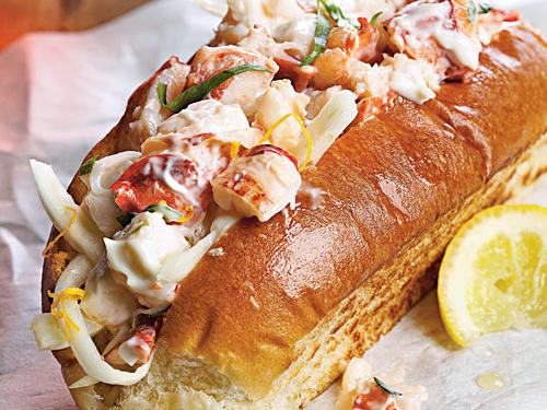 Lobster Salad Rolls with Shaved Fennel and Citrus