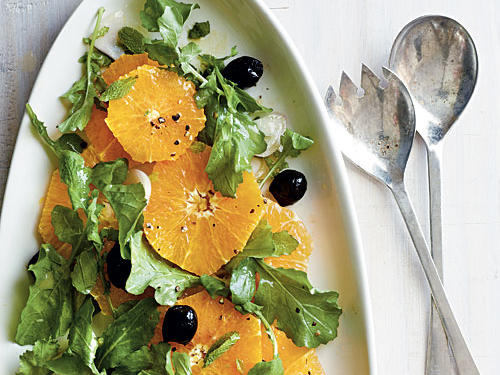 Orange Salad with Arugula and Oil-Cured Olives