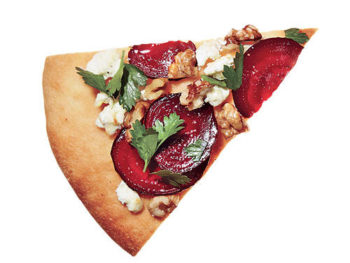 Roasted Beet & Goat Cheese Pizza