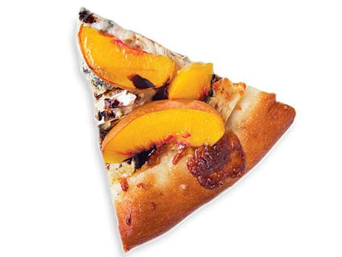 Peach & Gorgonzola Chicken Pizza