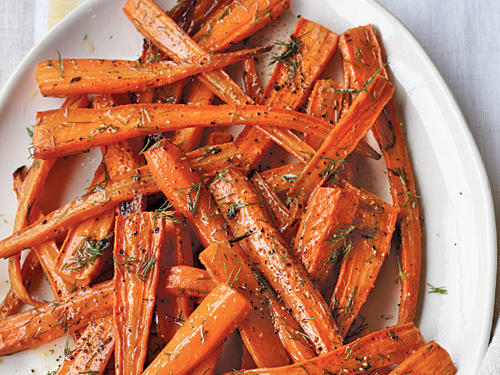 This recipe was inspired by a dish at Nightwood restaurant in Chicago. Roasting carrots brings out their natural sweetness.