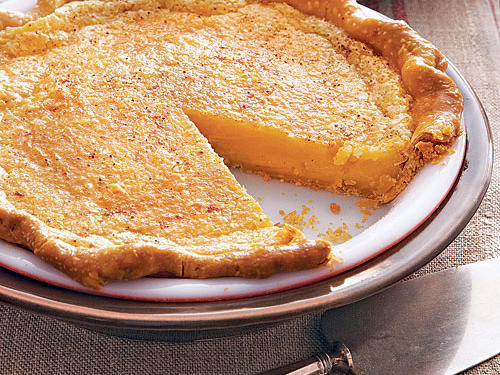 This simple custard pie originated in the 1800s as a way to use ingredients typically on hand: butter, flour, and sugar or maple syrup. Similar to the Hoosier Pie is the Pennsylvania Chess Pie; both were created, it's believed, by Shaker and Amish cooks.